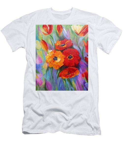 Floral Fusion Men's T-Shirt (Athletic Fit)