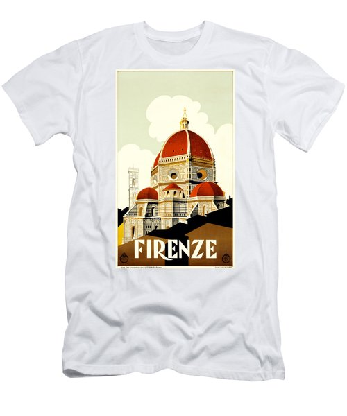 Florence Travel Poster Men's T-Shirt (Athletic Fit)