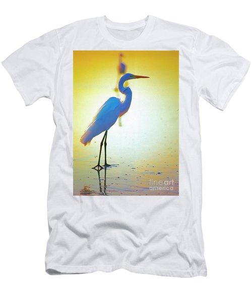 Florida Atlantic Beach Ocean Birds  Men's T-Shirt (Athletic Fit)