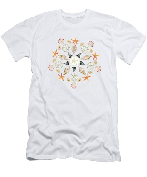 Florida Beachcombing Mandala 1 - Watercolor Men's T-Shirt (Athletic Fit)