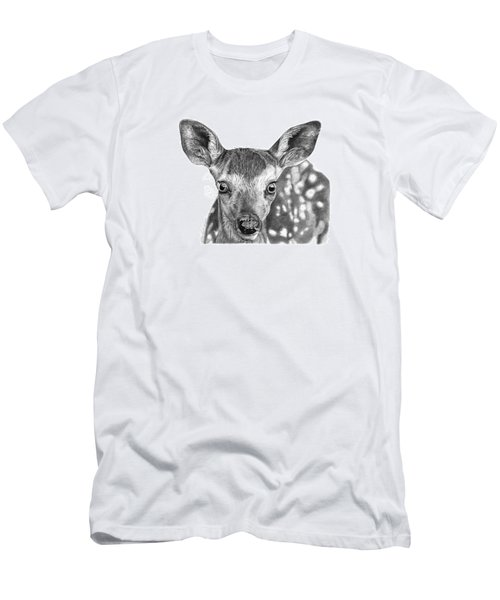 Men's T-Shirt (Slim Fit) featuring the drawing Florry The Fawn by Abbey Noelle