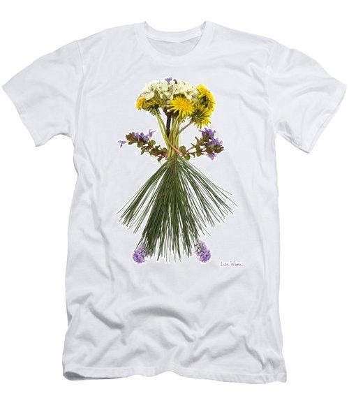 Men's T-Shirt (Slim Fit) featuring the digital art Flower Head by Lise Winne