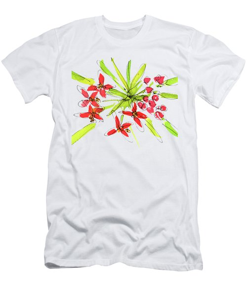 Flower Star By Kmcelwaine Men's T-Shirt (Athletic Fit)