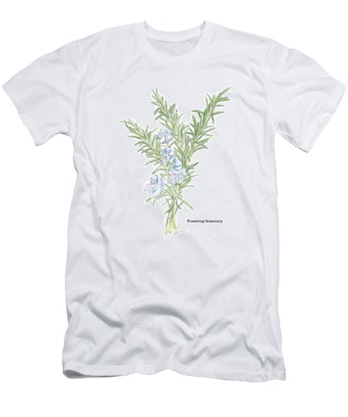 Flowering Rosemary Men's T-Shirt (Athletic Fit)