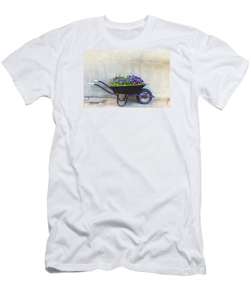 Flowers In A Wheelbarrow Men's T-Shirt (Athletic Fit)