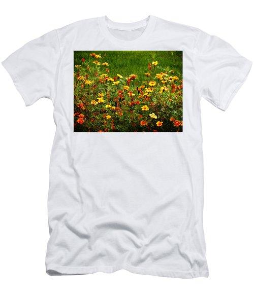 Flowers In The Fields Men's T-Shirt (Slim Fit) by Joseph Frank Baraba