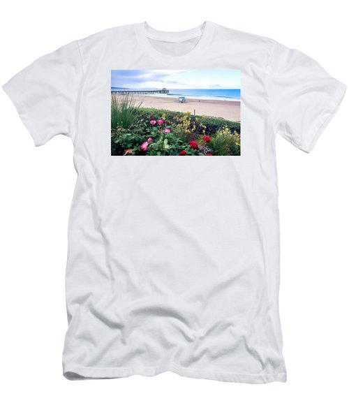 Flowers Of Manhattan Beach Men's T-Shirt (Slim Fit) by Art Block Collections