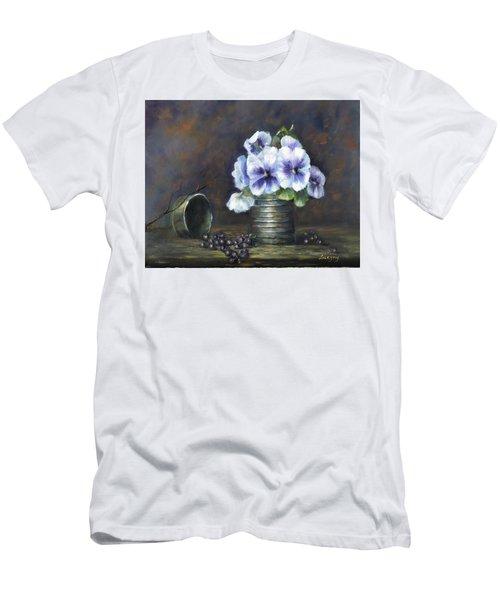 Flowers,pansies Still Life Men's T-Shirt (Athletic Fit)