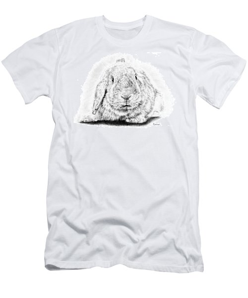 Fluffy Bunny Men's T-Shirt (Athletic Fit)