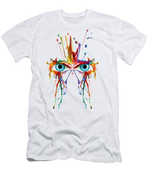 Fluid Abstract Eyes Men's T-Shirt (Athletic Fit)