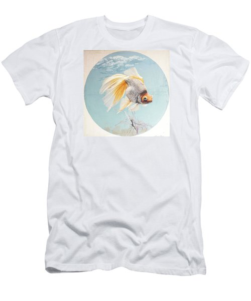Flying In The Clouds Of Goldfish Men's T-Shirt (Slim Fit) by Chen Baoyi