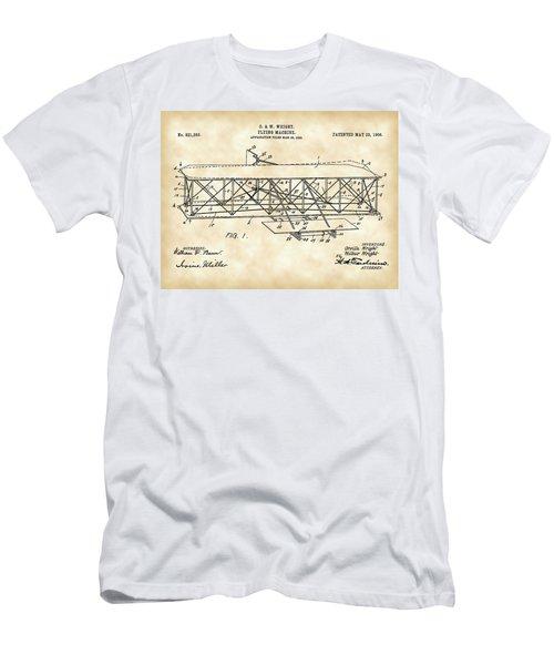 Flying Machine Patent 1903 - Vintage Men's T-Shirt (Athletic Fit)