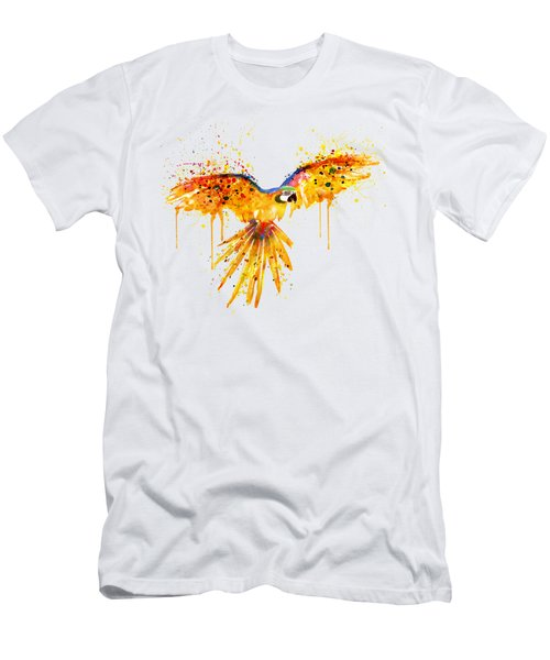 Flying Parrot Watercolor Men's T-Shirt (Slim Fit) by Marian Voicu