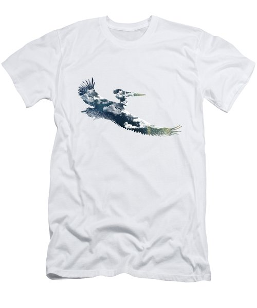 Flying Pelican Men's T-Shirt (Slim Fit) by Diana Van