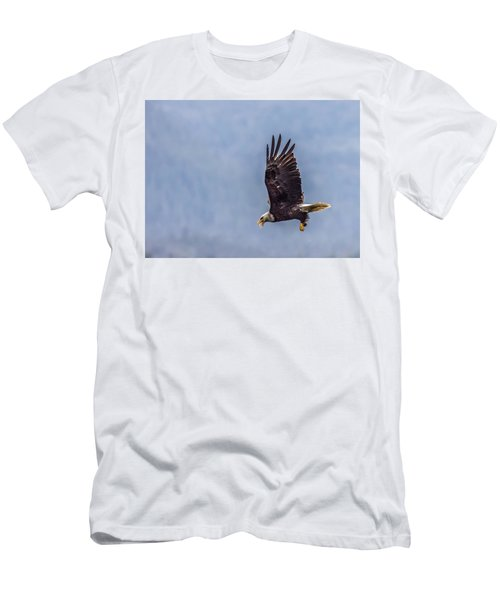 Men's T-Shirt (Slim Fit) featuring the photograph Flying With His Mouth Full.  by Timothy Latta