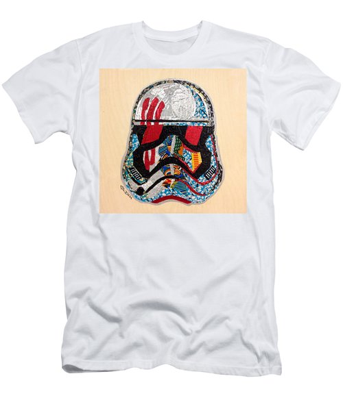 Men's T-Shirt (Athletic Fit) featuring the tapestry - textile Storm Trooper Fn-2187 Helmet Star Wars Awakens Afrofuturist Collection by Apanaki Temitayo M
