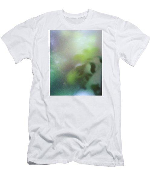 #fog #green #autumn #leaves #garden Men's T-Shirt (Athletic Fit)