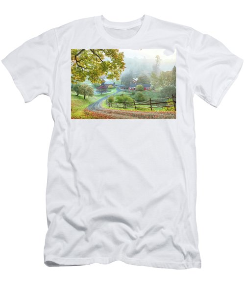 Fog On Sleepy Hollow Farm Men's T-Shirt (Athletic Fit)
