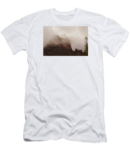Men's T-Shirt (Slim Fit) featuring the photograph Fog Over Snoopy Rock by Tom Kelly