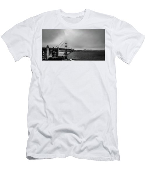 Fog Over The Golden Gate Bridge Men's T-Shirt (Athletic Fit)