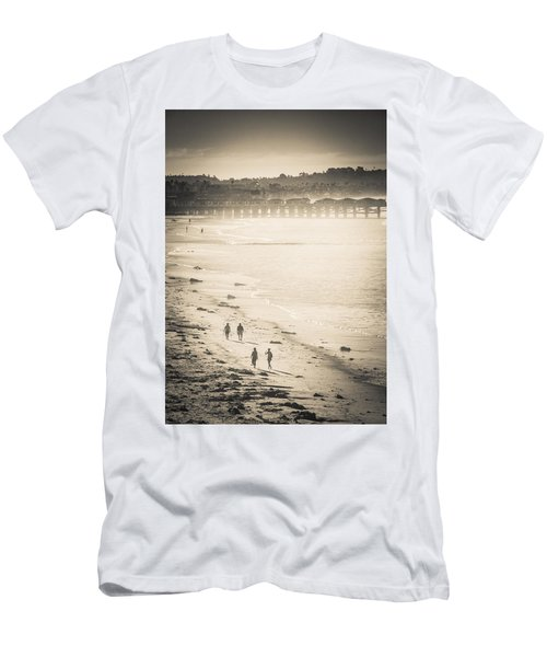 Foggy Beach Walk Men's T-Shirt (Athletic Fit)