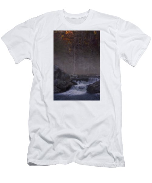 Men's T-Shirt (Slim Fit) featuring the photograph Foggy Morning At Linville Falls by Ellen Heaverlo