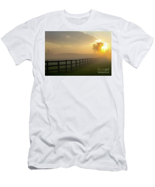Foggy Pasture Sunrise Men's T-Shirt (Athletic Fit)