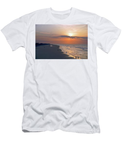 Folly Beach Sunrise Men's T-Shirt (Slim Fit) by Meta Gatschenberger