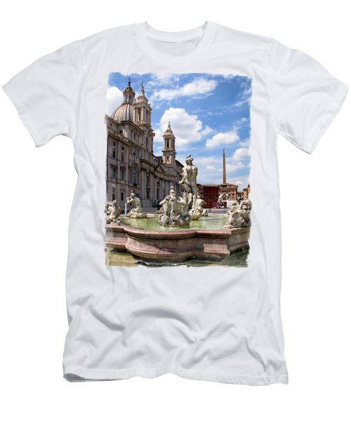 Fontana Del Moro.rome Men's T-Shirt (Athletic Fit)