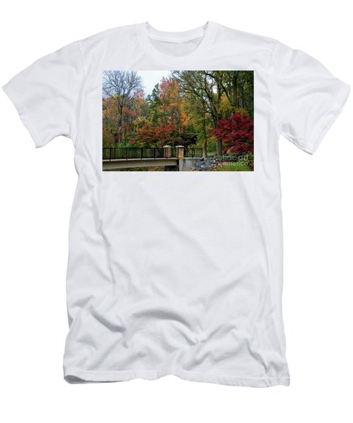 Foot Bridge In The Fall Men's T-Shirt (Athletic Fit)