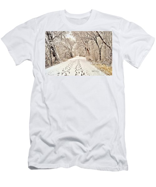 Footprints  Men's T-Shirt (Athletic Fit)