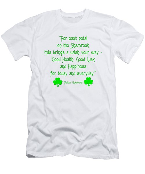 For Each Petal On The Shamrock Men's T-Shirt (Athletic Fit)