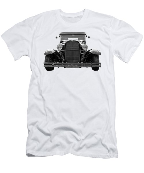 Ford Coupe Head On In Black And White Men's T-Shirt (Athletic Fit)