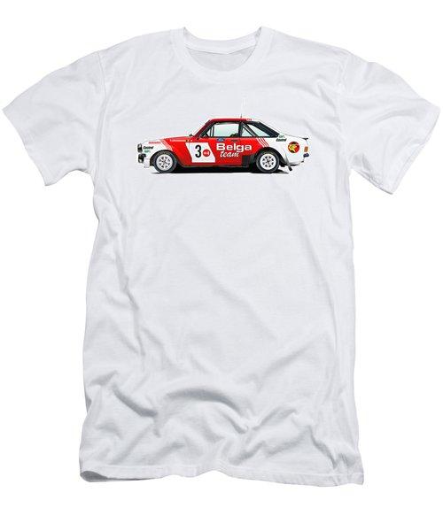 Ford Escort Rs Belga Team Illustration Men's T-Shirt (Slim Fit) by Alain Jamar