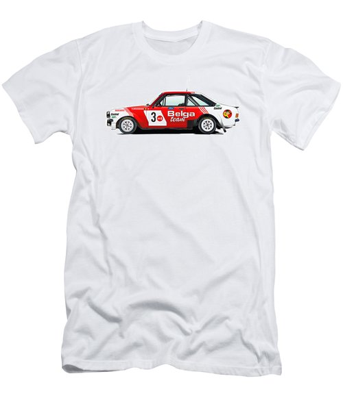 Ford Escort Rs Belga Team Illustration Men's T-Shirt (Athletic Fit)