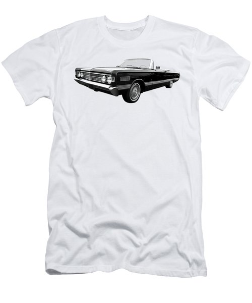 Ford Mercury Park Lane 1966 Black And White Men's T-Shirt (Slim Fit) by Gill Billington