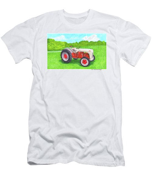 Men's T-Shirt (Slim Fit) featuring the painting Ford Tractor 1941 by Jack Pumphrey