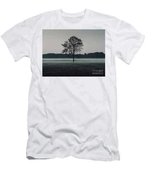 Men's T-Shirt (Slim Fit) featuring the photograph Forest Fog by MGL Meiklejohn Graphics Licensing