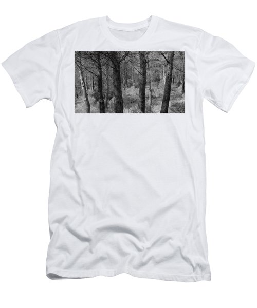 Men's T-Shirt (Athletic Fit) featuring the photograph Forest Light by August Timmermans