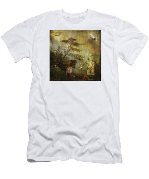 Forest Wonderland Men's T-Shirt (Slim Fit) by Diana Boyd