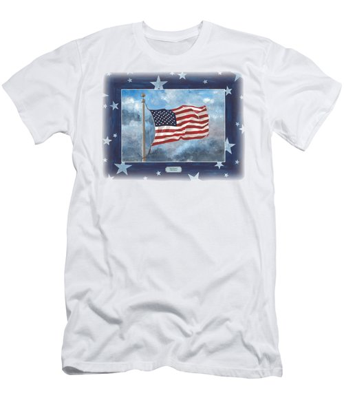 Forever Old Glory  Men's T-Shirt (Slim Fit) by Herb Strobino