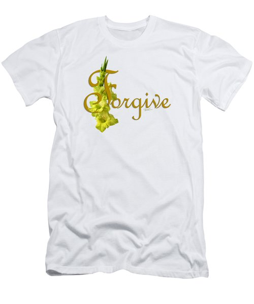 Men's T-Shirt (Slim Fit) featuring the digital art Forgive by Ann Lauwers