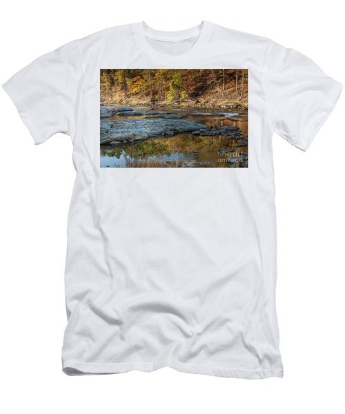 Men's T-Shirt (Slim Fit) featuring the photograph Fork River Reflection In Fall by Iris Greenwell