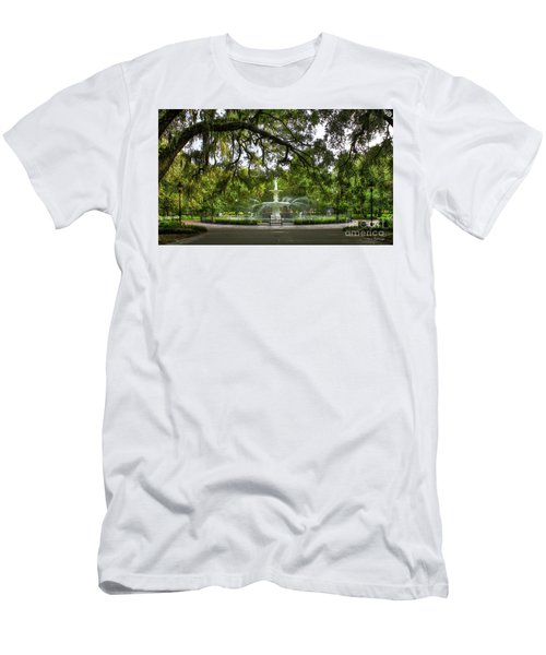 Forsyth Park Fountain Historic Savannah Georgia Men's T-Shirt (Slim Fit) by Reid Callaway