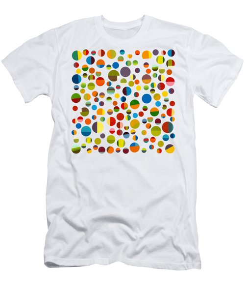 Men's T-Shirt (Slim Fit) featuring the digital art Found My Marbles 3.0 by Michelle Calkins