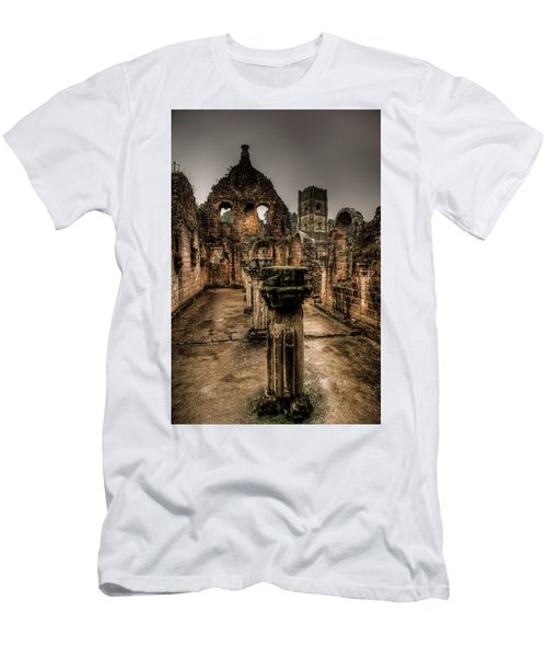 Fountains Abbey In Pouring Rain Men's T-Shirt (Athletic Fit)