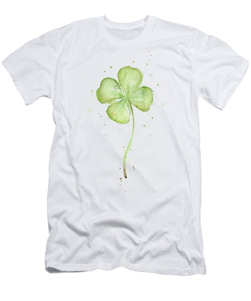 Four Leaf Clover Lucky Charm Men's T-Shirt (Slim Fit) by Olga Shvartsur