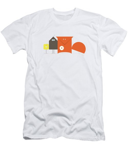 Fox Crow And Chick Men's T-Shirt (Athletic Fit)