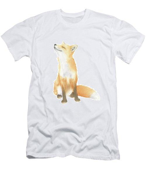 Men's T-Shirt (Slim Fit) featuring the painting Fox Watercolor by Taylan Apukovska