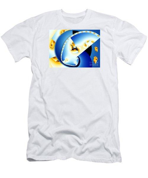 Fractal Construct Men's T-Shirt (Slim Fit) by Ron Bissett